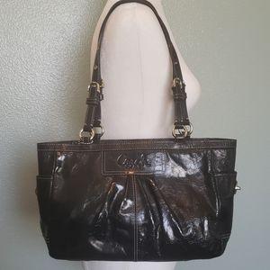 Gorgeous Coach Black Patent Leather Bag